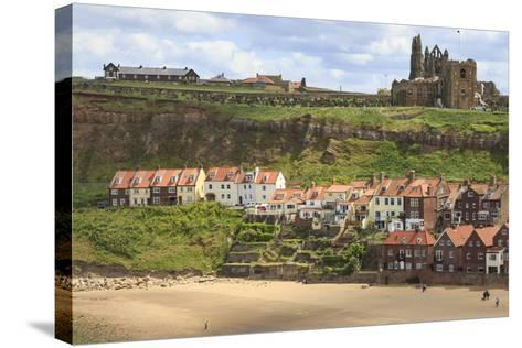St. Mary's Church and Whitby Abbey Above Tate Hill Beach-Eleanor Scriven-Stretched Canvas Print