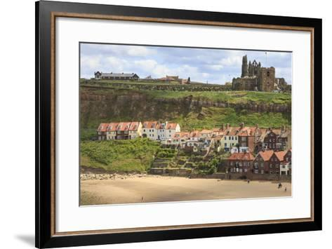 St. Mary's Church and Whitby Abbey Above Tate Hill Beach-Eleanor Scriven-Framed Art Print