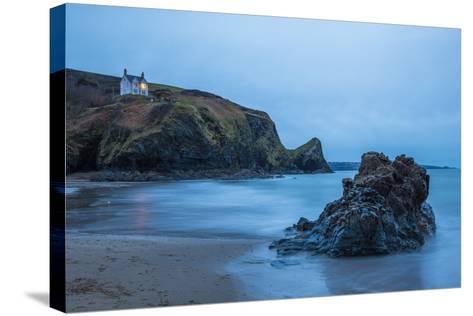 Llangrannog Beach, Ceredigion (Cardigan), West Wales, Wales, United Kingdom, Europe-Billy Stock-Stretched Canvas Print