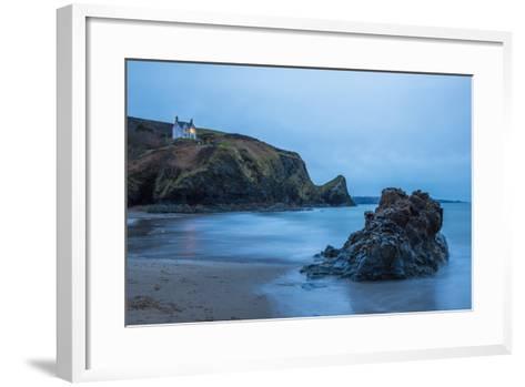 Llangrannog Beach, Ceredigion (Cardigan), West Wales, Wales, United Kingdom, Europe-Billy Stock-Framed Art Print