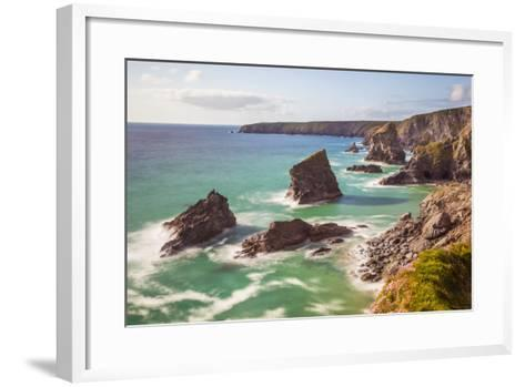 Bedruthan Steps, Newquay, Cornwall, England, United Kingdom-Billy Stock-Framed Art Print