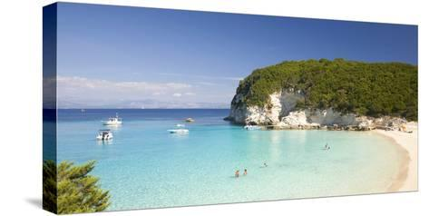 View across the Clear Turquoise Waters of Vrika Bay-Ruth Tomlinson-Stretched Canvas Print
