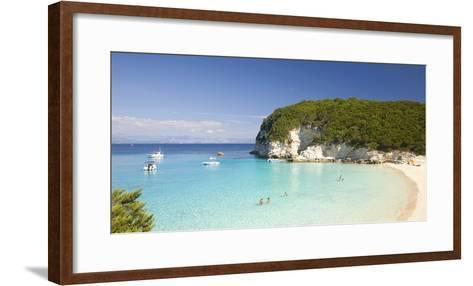 View across the Clear Turquoise Waters of Vrika Bay-Ruth Tomlinson-Framed Art Print