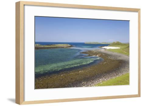 View over Shore at Low Tide to Distant Coral Beach-Ruth Tomlinson-Framed Art Print