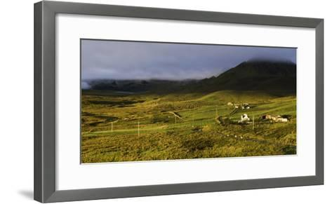 View of the Quiraing from Brogaig on the Isle of Skye, Inner Hebrides, Scotland, United Kingdom-John Woodworth-Framed Art Print