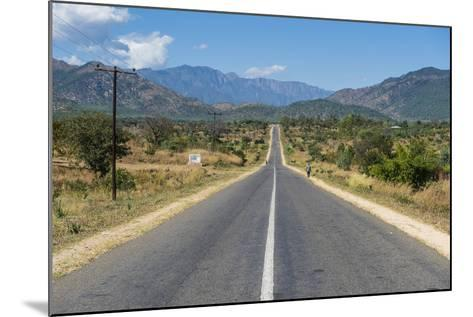 Long Straight Road in Central Malawi, Africa-Michael Runkel-Mounted Photographic Print