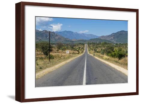 Long Straight Road in Central Malawi, Africa-Michael Runkel-Framed Art Print