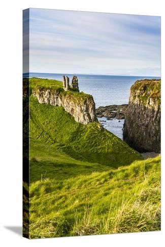Dunseverick Castle Near the Giants Causeway-Michael Runkel-Stretched Canvas Print
