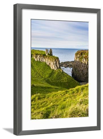 Dunseverick Castle Near the Giants Causeway-Michael Runkel-Framed Art Print