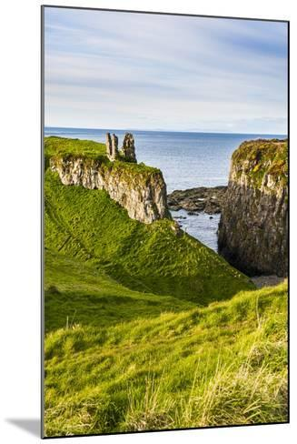 Dunseverick Castle Near the Giants Causeway-Michael Runkel-Mounted Photographic Print