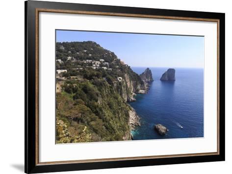 View to Limestone Pinnacles of Faraglioni Rocks from Giardini Di Augusto-Eleanor Scriven-Framed Art Print