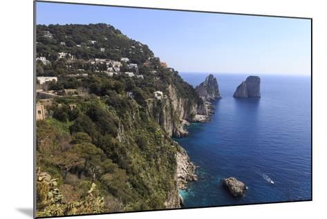 View to Limestone Pinnacles of Faraglioni Rocks from Giardini Di Augusto-Eleanor Scriven-Mounted Photographic Print