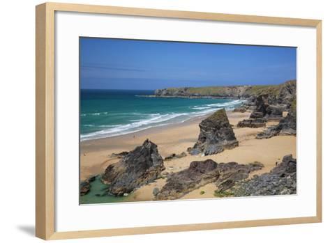 Bedruthan Steps, Newquay, Cornwall, England, United Kingdom-Billy Stock-Framed Art Print