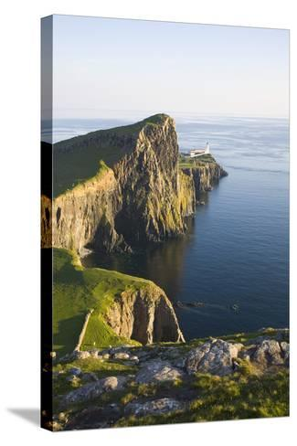 View to the Clifftop Lighthouse at Neist Point-Ruth Tomlinson-Stretched Canvas Print