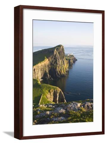View to the Clifftop Lighthouse at Neist Point-Ruth Tomlinson-Framed Art Print