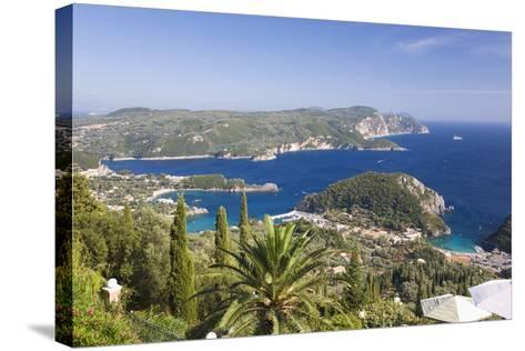 View over Liapades Bay from Hilltop Viewpoint Near Lakones-Ruth Tomlinson-Stretched Canvas Print