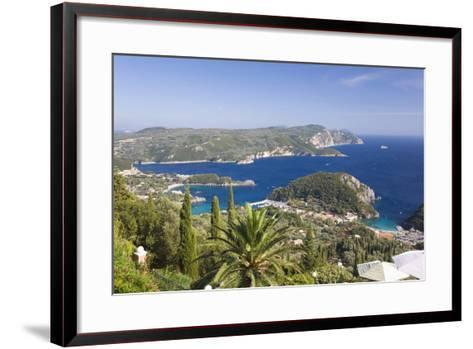 View over Liapades Bay from Hilltop Viewpoint Near Lakones-Ruth Tomlinson-Framed Art Print