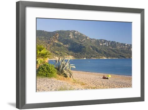 View across the Bay to Wooded Hillside-Ruth Tomlinson-Framed Art Print