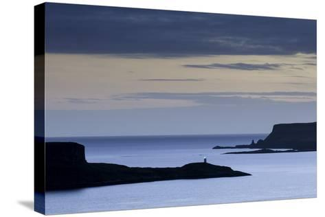 Looking West from Struan over Loch Harport and Loch Bracadale on the Isle of Skye-John Woodworth-Stretched Canvas Print