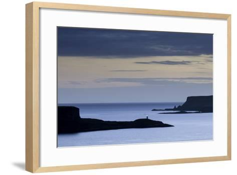 Looking West from Struan over Loch Harport and Loch Bracadale on the Isle of Skye-John Woodworth-Framed Art Print