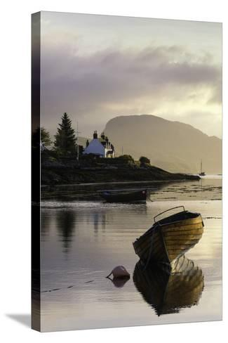 Dawn View of Plockton and Loch Carron Near the Kyle of Lochalsh in the Scottish Highlands-John Woodworth-Stretched Canvas Print