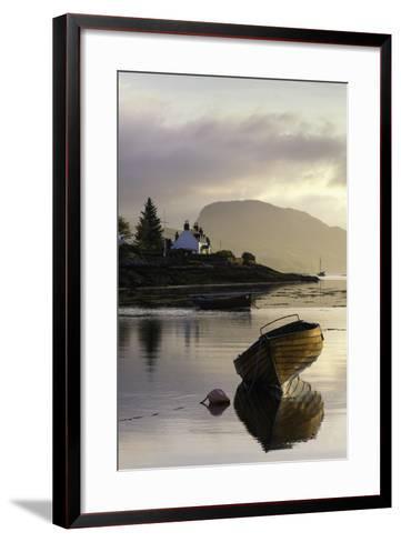 Dawn View of Plockton and Loch Carron Near the Kyle of Lochalsh in the Scottish Highlands-John Woodworth-Framed Art Print