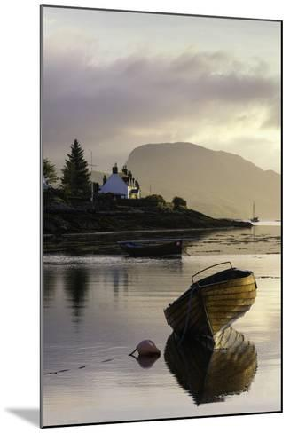 Dawn View of Plockton and Loch Carron Near the Kyle of Lochalsh in the Scottish Highlands-John Woodworth-Mounted Photographic Print