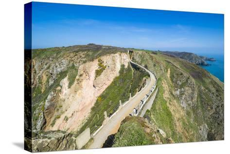 Road Connecting the Narrow Isthmus of Greater and Little Sark, Channel Islands, United Kingdom-Michael Runkel-Stretched Canvas Print