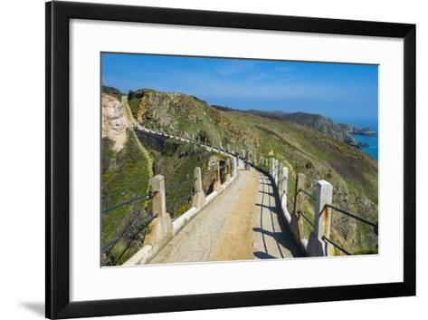 Road Connecting the Narrow Isthmus of Greater and Little Sark, Channel Islands, United Kingdom-Michael Runkel-Framed Art Print