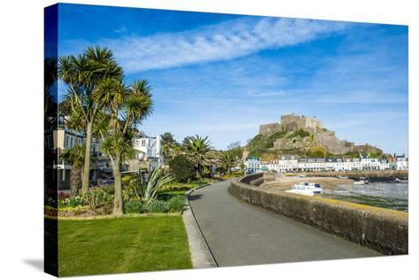 The Town of Mont Orgueil and its Castle, Jersey, Channel Islands, United Kingdom-Michael Runkel-Stretched Canvas Print