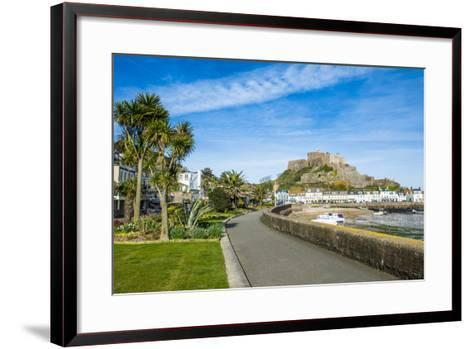 The Town of Mont Orgueil and its Castle, Jersey, Channel Islands, United Kingdom-Michael Runkel-Framed Art Print