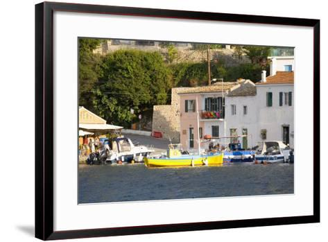 View across the Colourful Harbour, Loggos, Paxos, Paxi, Corfu, Ionian Islands, Greek Islands-Ruth Tomlinson-Framed Art Print