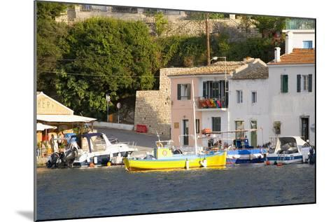 View across the Colourful Harbour, Loggos, Paxos, Paxi, Corfu, Ionian Islands, Greek Islands-Ruth Tomlinson-Mounted Photographic Print