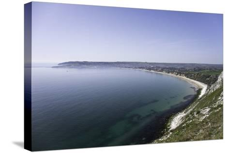 View of Swanage Bay from the Coastal Footpath in Dorset, England, United Kingdom-John Woodworth-Stretched Canvas Print