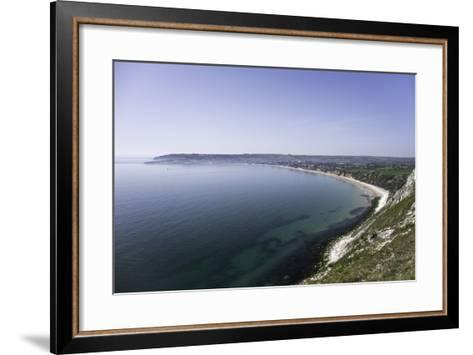 View of Swanage Bay from the Coastal Footpath in Dorset, England, United Kingdom-John Woodworth-Framed Art Print