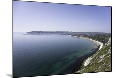 View of Swanage Bay from the Coastal Footpath in Dorset, England, United Kingdom-John Woodworth-Mounted Photographic Print