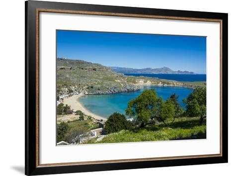 Pallas Beach in Lindos, Rhodes, Dodecanese Islands, Greek Islands, Greece, Europe-Michael Runkel-Framed Art Print