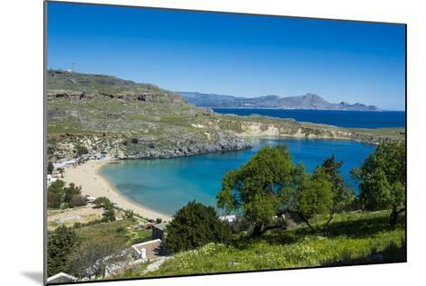 Pallas Beach in Lindos, Rhodes, Dodecanese Islands, Greek Islands, Greece, Europe-Michael Runkel-Mounted Photographic Print