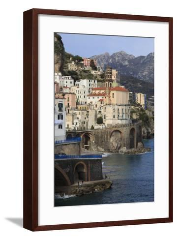 Church of Santa Maria Maddalena and Coast Road-Eleanor Scriven-Framed Art Print