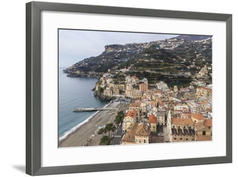Minori, Beach, Town-Eleanor Scriven-Framed Art Print