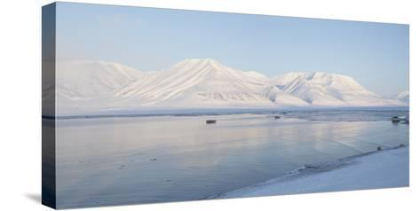 Dirigenten Mountain and Sea Ice-Stephen Studd-Stretched Canvas Print