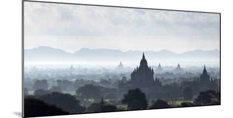 North and South Guni Temples Pagodas and Stupas in Early Morning Mist at Sunrise-Stephen Studd-Mounted Photographic Print
