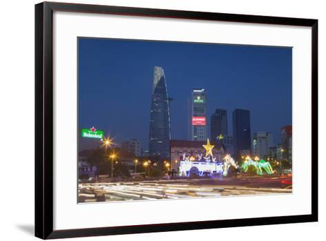 Bitexco Financial Tower at Dusk, Ho Chi Minh City, Vietnam, Indochina, Southeast Asia, Asia-Ian Trower-Framed Art Print