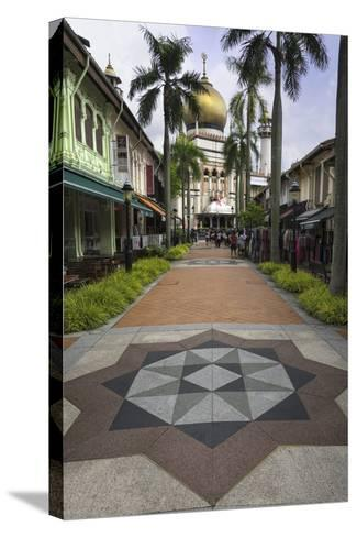 Road Leading to the Sultan Mosque in the Arab Quarter, Singapore, Southeast Asia, Asia-John Woodworth-Stretched Canvas Print