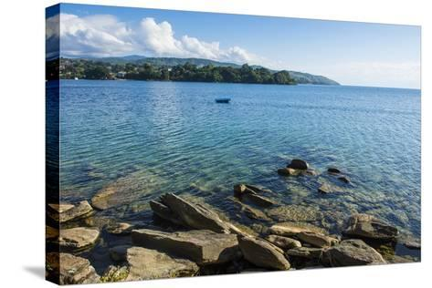View over Nkhata Bay, Lake Malawi, Malawi, Africa-Michael Runkel-Stretched Canvas Print