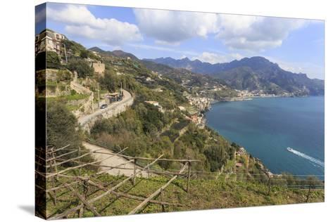 Coastal View Above Castiglione Di Ravello-Eleanor Scriven-Stretched Canvas Print