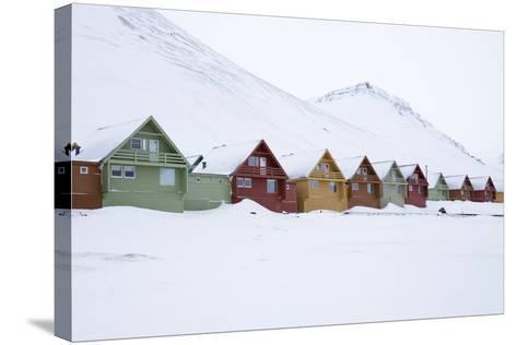 Longyearbyen Houses, Spitsbergen, Svalbard, Arctic Circle, Norway, Scandinavia-Stephen Studd-Stretched Canvas Print