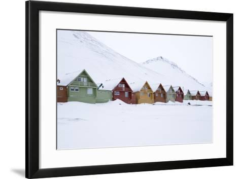 Longyearbyen Houses, Spitsbergen, Svalbard, Arctic Circle, Norway, Scandinavia-Stephen Studd-Framed Art Print