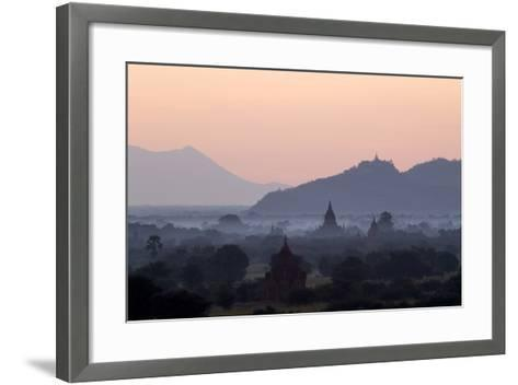 Temples, Pagodas and Stupas in Early Morning Mist at Sunrise, Bagan (Pagan), Myanmar (Burma)-Stephen Studd-Framed Art Print