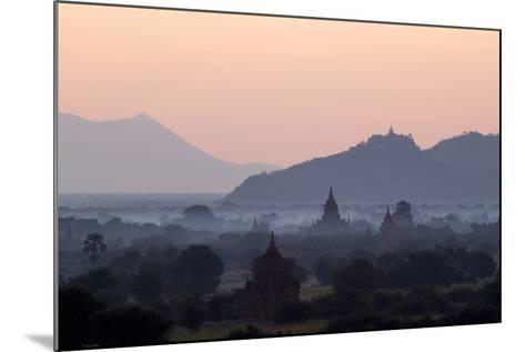 Temples, Pagodas and Stupas in Early Morning Mist at Sunrise, Bagan (Pagan), Myanmar (Burma)-Stephen Studd-Mounted Photographic Print